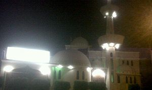 Bab al-Islam Mosque - Image: Mosque Bab ul Islam at night
