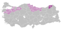 Mother language in 1965 Turkey census - Georgian.png