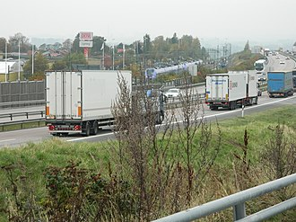 Scania - The motorway through western Scania, E6, here at motorway service Glumslöv, is the artery of the western part of the province.