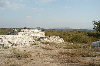 Chiapa de Corzo (Mesoamerican site) - Mound 1, Chiapa de Corzo, looking south toward the Grijalva River.