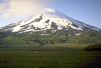 Umnak - Highest point. Mount Vsevidof
