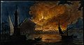 Mount Vesuvius in eruption in 1767, from the mole at Naples. Wellcome V0025255.jpg