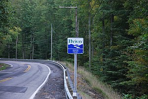Mountain Parkway Byway - Sign for the Byway