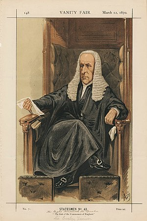 Evelyn Denison, 1st Viscount Ossington - Sir Evelyn Denison, speaker, in a Vanity Fair cartoon of 1870.