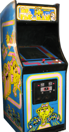 Ms. Pacman cabinet
