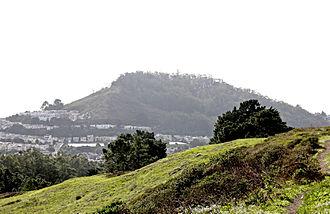 Mount Davidson (California) - Mount Davidson as seen from the Twin Peaks.