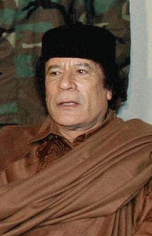 The leader de facto of Libya, Muammar al-Gadda...