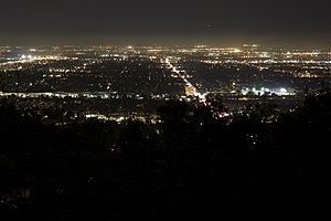 Mulholland Drive (film) - The view of Los Angeles from Mulholland Drive has become an iconic representation of the city's opportunities.