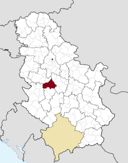 Municipalities of Serbia Gornji Milanovac.png