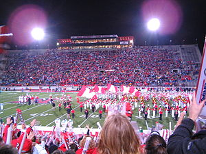 A football game at Yager Stadium