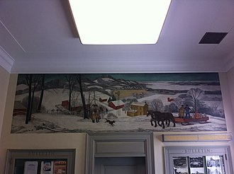 Canton, Missouri - WPA mural in Canton, MO post office