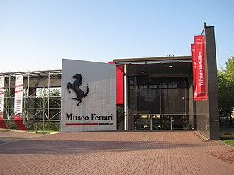 Museo Ferrari - The museum entrance.