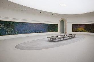 Musée de l'Orangerie - Claude Monet's Nymphéas on display in the museum.