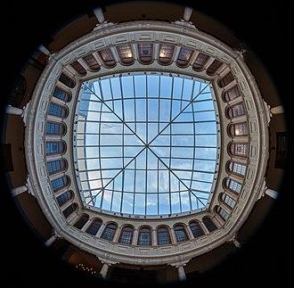 Teruel - Glass roof of the museum of religious art in Teruel.
