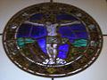 Museo di santa croce, vetrata attr. alesso baldovinetti, crocefissione.JPG