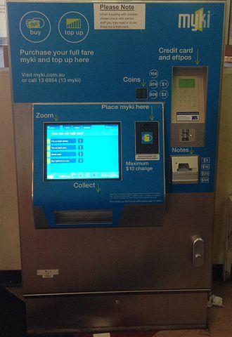 Myki - A Myki card vending machine