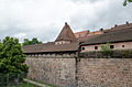 Nürnberg, Stadtmauer, Mauerturm Schwarzes F, Feldseite, 001.jpg