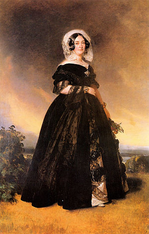 Princess Victoria of Saxe-Coburg-Saalfeld - The Duchess of Kent in a portrait by Winterhalter