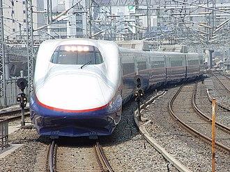 E2 Series Shinkansen - 8-car set N11 on an Asama service in June 2002