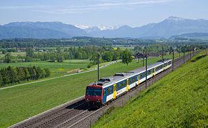 Aargau S-Bahn - Image: NPZ zwischen Mühlau und Sins