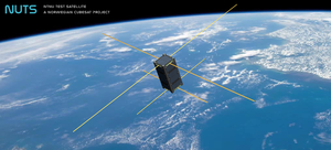 NUTS 1 (satellite) - Image showing artists rendition of NUTS 1 in orbit