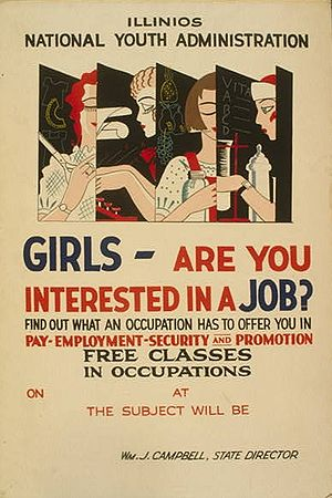 National Youth Administration - Poster for the Illinois branch of the National Youth Administration, 1937