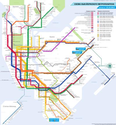 схема Нью-Йоркского метро,
