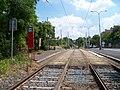 Nad Trojou, zastávky na stejné koleji.jpg
