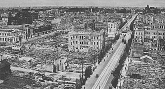 Bombing of Nagoya in World War II - Nagoya, after the 1945 bombing.
