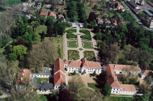 Nagycenk - Aerial photograph of Széchenyi Mansion