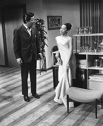 Flower Drum Song (film) - Sammy Fong (Jack Soo) and Linda Low (Nancy Kwan) in Flower Drum Song.