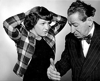 Howard Brothers - Willie Howard and Nancy Walker in a 1948 publicity photo for Along Fifth Avenue