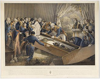 Retour des cendres - Opening of Napoleon's casket, Valley of the Tomb, 14 October 1840.