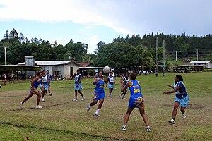 Netball in Oceania - Image: Natalei netball