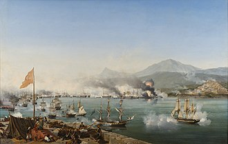 1820s - October 20: Naval Battle of Navarino by Ambroise Louis Garneray