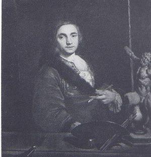 Bartolomeo Nazari - Bartolomeo Nazari, self-portrait