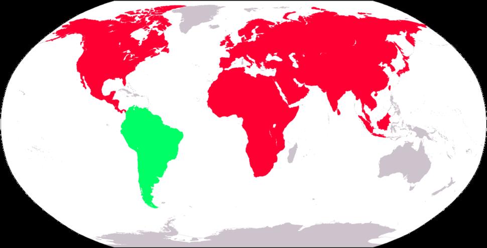 Nearctic-Neotropic map