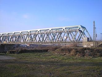 Rhine Bridge, Kehl - Image: Neubau Eisenbahnbrücke Kehl 3