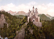 An 1890s photochrom print of the castle.
