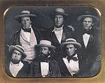 The Vilauristre Valluns in the standard uniform for Burgoignesc teams in the 1850s