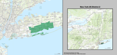 New York 's 2nd congressional district - since January 3, 2013.
