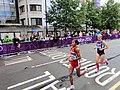 Ni Lar San (Myanmar), Evelin Talts (Estonia) - London 2012 Women's Marathon.jpg