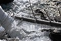 Nice Ice patterns at a dead branche in the stream near Niederthai (its name is the Horlachbach) - panoramio.jpg