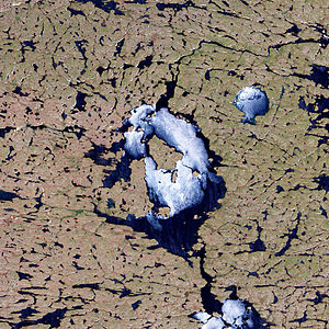 Nicholson crater - Nicholson crater lake in Canada
