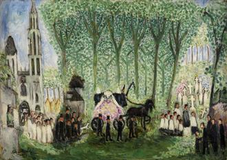 The Dying Dandy - Image: Nils von Dardel Begravning i Senlis