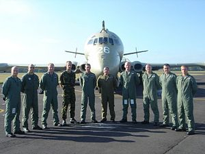 RAF Kinloss - Nimrod groundcrew at Kinloss