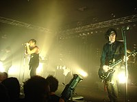 Nine Inch Nails, a commercially successful post-industrial group