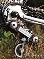 Nineteen-eighties Simplex rear derailleur.JPG
