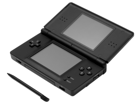 Nintendo DS touchscreen (bottom) with stylus. Nintendo-DS-Lite-w-stylus.png