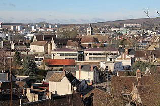 Nogent-le-Rotrou - Western part of town seen from Château Saint-Jean - 1.jpg